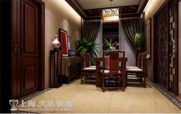 升龙国际新中式装修三室两厅案例——餐厅