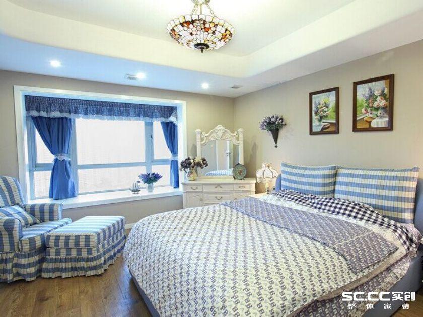 工商家属院 地中海装修 四居室装修 卧室图片来自郑州实创装饰-杨淑平在工商局家属院160平地中海风情的分享