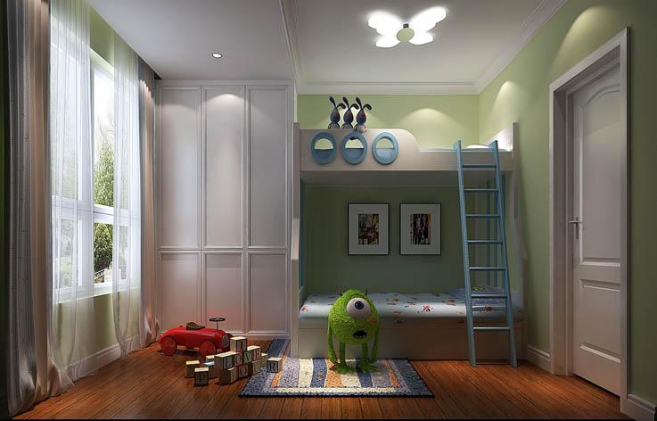 现代 简约 loft 儿童房图片来自高度国际装饰宋增会在华业东方玫瑰80平米现代简约的分享