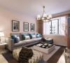 该户型整体风格是后代风格适合于三口之家居住,以简洁明快的设计风格为主调,简洁和实用是现代简约风格的基本特点。