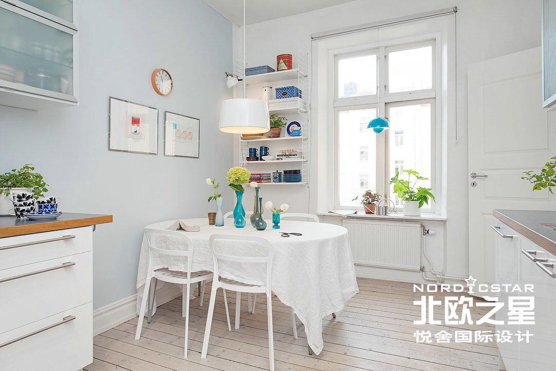 简约 欧式 田园 混搭 二居 旧房改造 餐厅图片来自Una在春机盎然-北欧简约风格的分享
