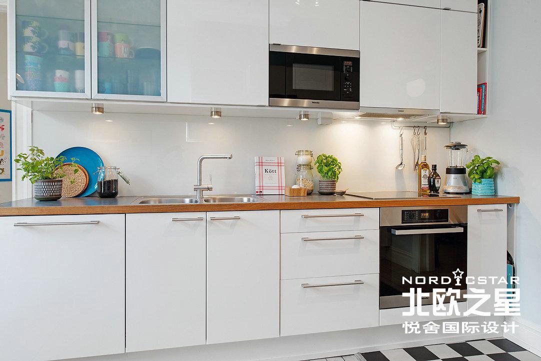 简约 欧式 田园 混搭 二居 旧房改造 厨房图片来自Una在春机盎然-北欧简约风格的分享