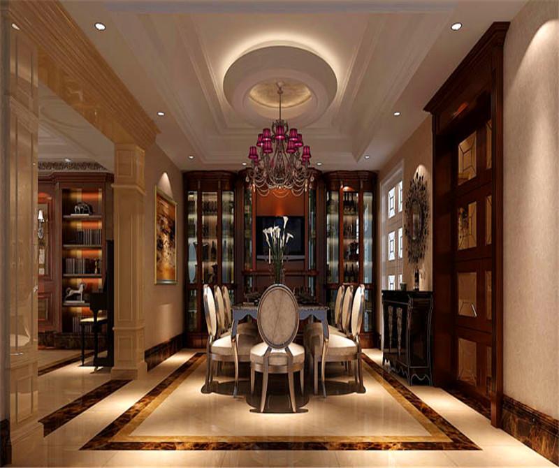 叠拼 别墅 二层带地下 书房图片来自高度国际装饰宋增会在金隅翡丽230平米美式古典的分享
