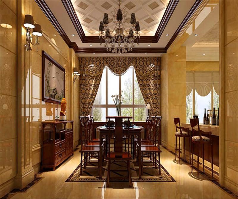 平层 中西结合 7室4厅4卫 餐厅图片来自高度国际装饰宋增会在西山一号院208平米中西结合的分享