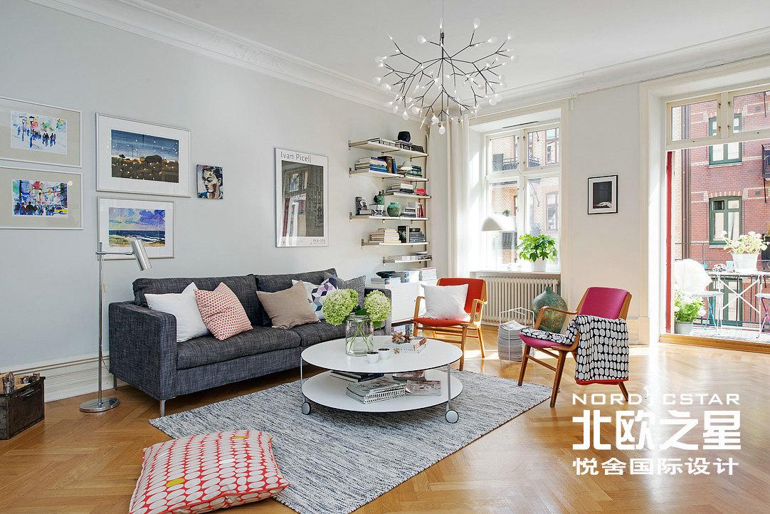 简约 欧式 田园 混搭 二居 旧房改造 客厅图片来自Una在春机盎然-北欧简约风格的分享