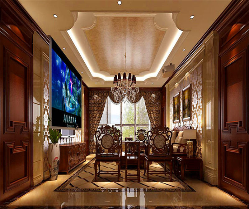 平层 中西结合 7室4厅4卫 客厅图片来自高度国际装饰宋增会在西山一号院208平米中西结合的分享