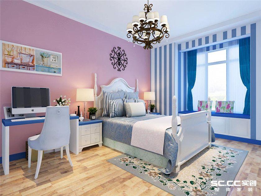 地中海风格 两居 嘉怡水岸 卧室图片来自实创装饰上海公司在97平地中海风格装修设计的分享