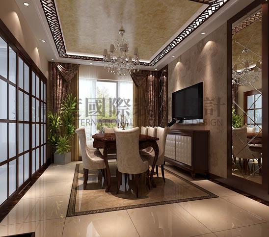 四居 港式 平层 餐厅图片来自高度国际装饰宋增会在西山壹号院360平米港式的分享