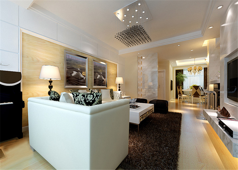 简约 三居 白领 收纳 80后 小资 客厅图片来自实创装饰完美家装在中海金石公馆123平三居现代风格的分享
