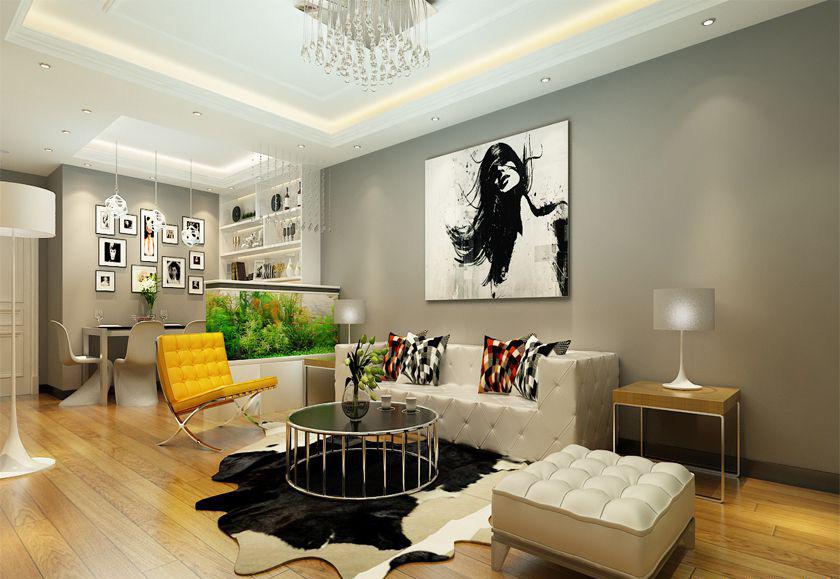简约 欧式 二居 白领 收纳 80后 小资 客厅图片来自实创装饰百灵在欧式典雅 160㎡装修设计的分享