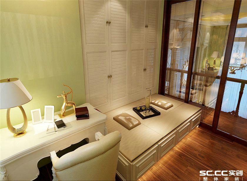 欧式 复式 客厅 卧室 书房 餐厅 收纳 黄色 150平 书房图片来自实创装饰晶晶在万锦城146平欧式风尚复式之家的分享