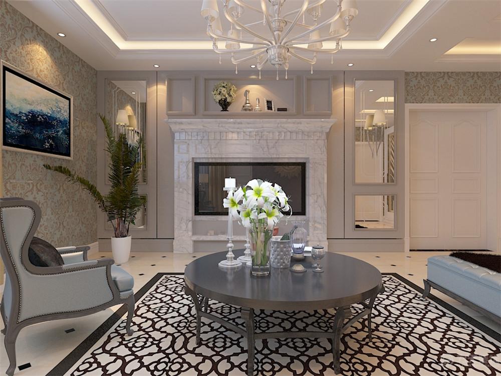 客厅图片来自阳光力天装饰糖宝儿在欧式风格 | 中浩智城 110㎡ 三居的分享