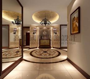 四居 港式 平层 玄关图片来自高度国际装饰宋增会在西山壹号院360平米港式的分享