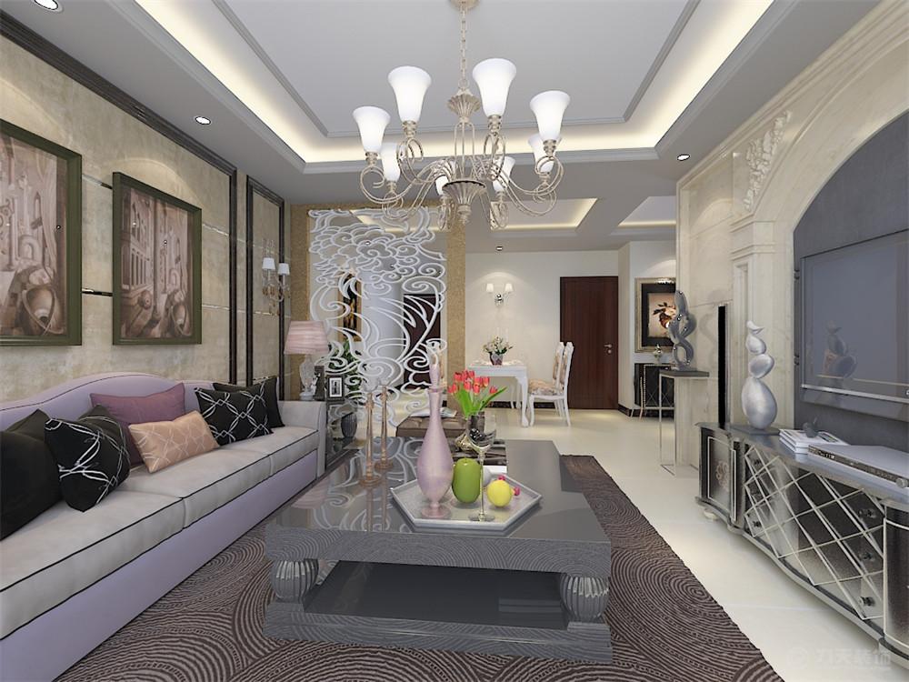 欧式 二居 白领 80后 小资 客厅图片来自阳光力天装饰糖宝儿在欧式风格 | 华侨城 101㎡两居的分享