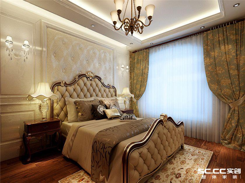 欧式 复式 客厅 卧室 书房 餐厅 收纳 黄色 150平 卧室图片来自实创装饰晶晶在万锦城146平欧式风尚复式之家的分享