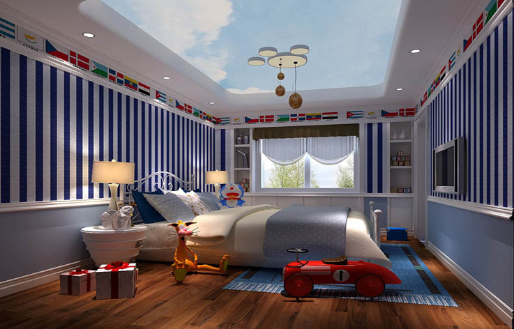 混搭 三居 80后 小资 儿童房图片来自北京高度国际---小吴在金隅翡丽低调奢华风的分享