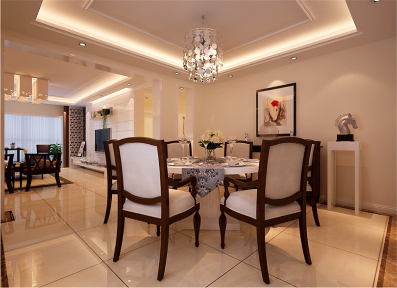 混搭 三居 白领 收纳 80后 小资 餐厅图片来自实创装饰完美家装在华贸城150平三居混搭风格赏析的分享