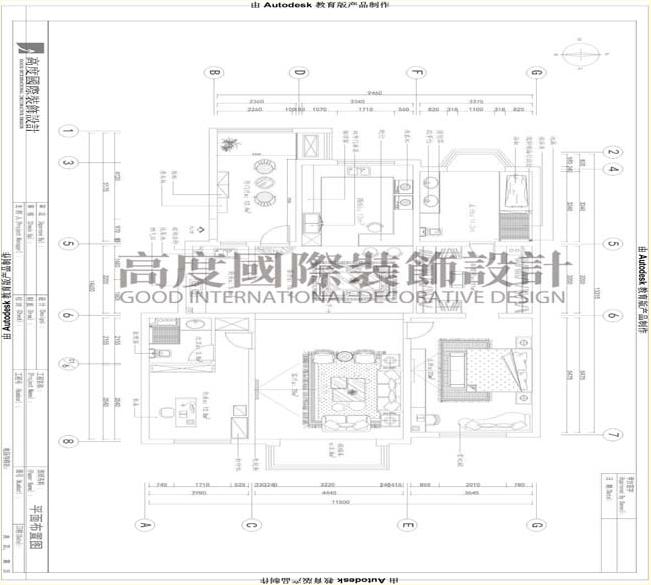 三居 公寓 户型图图片来自高度国际装饰宋增会在龙湖花盛香醍160平米现代简约的分享