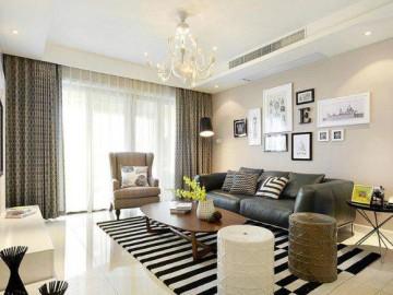 中性装修 130平现代简约三居室