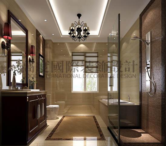 四居 港式 平层 卫生间图片来自高度国际装饰宋增会在西山壹号院360平米港式的分享