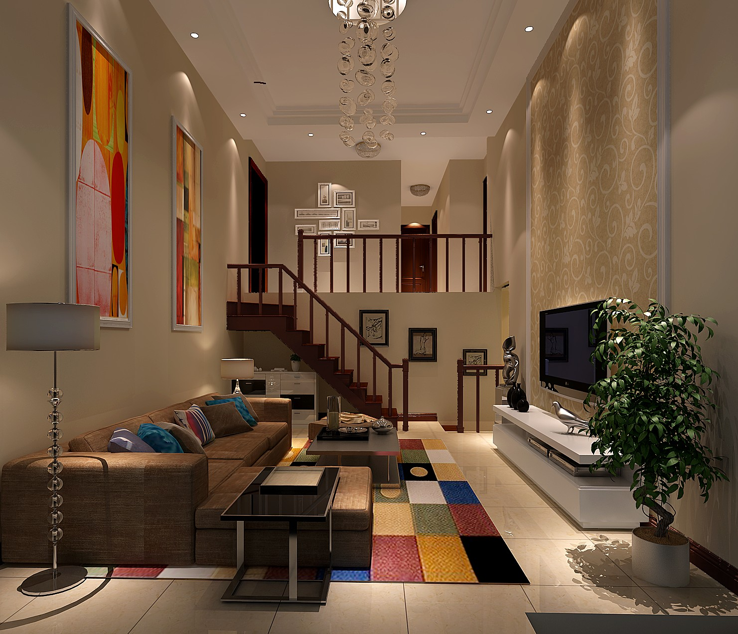 北欧极简 公寓 四居 客厅图片来自高度国际装饰宋增会在8哩岛165平米北欧极简风格的分享