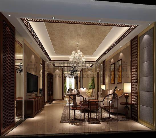 四居 港式 平层 客厅图片来自高度国际装饰宋增会在西山壹号院360平米港式的分享