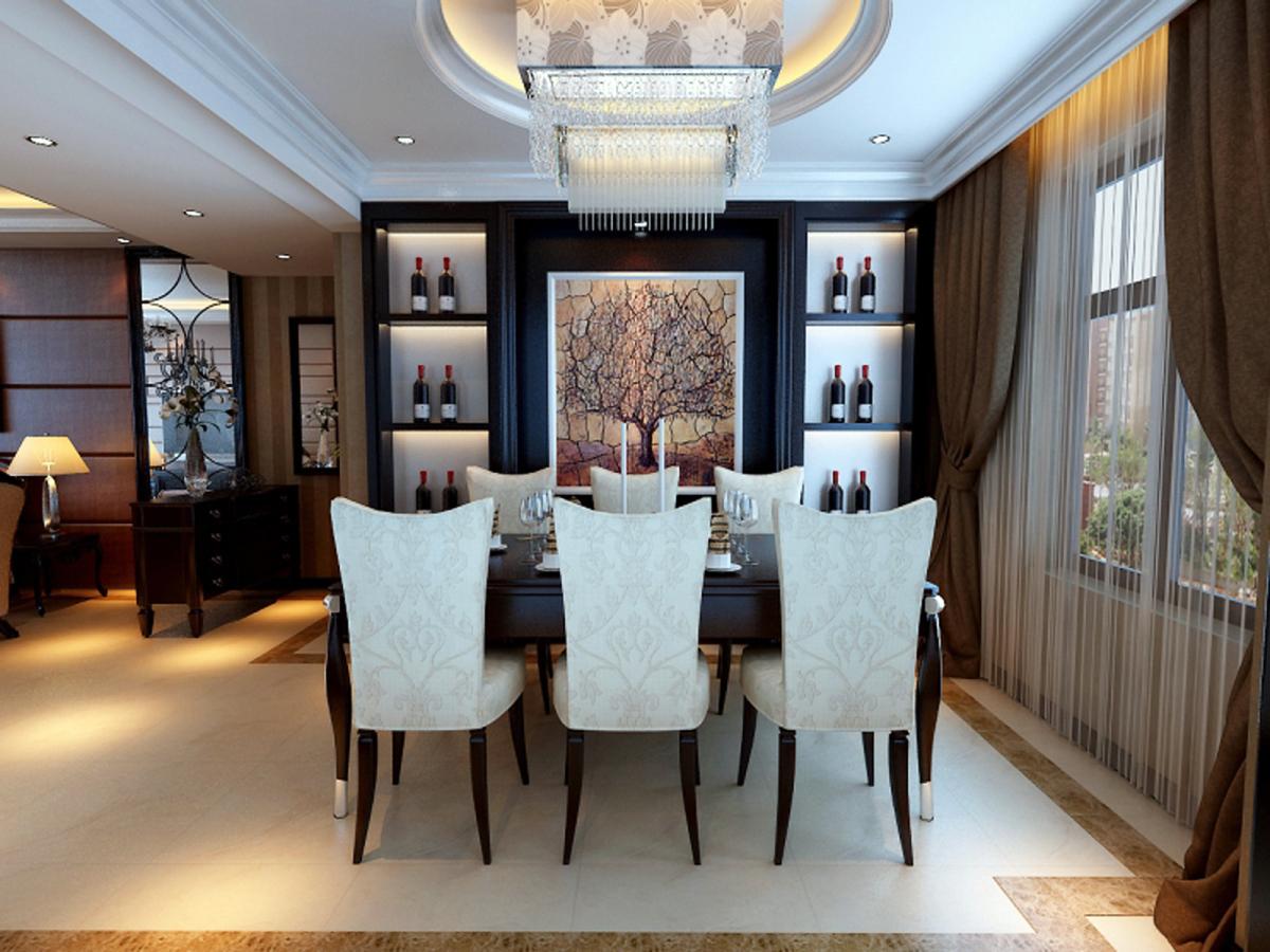 欧式 三居 白领 收纳 旧房改造 餐厅图片来自合肥实创装饰李东风在欧式新古典风格装修的分享