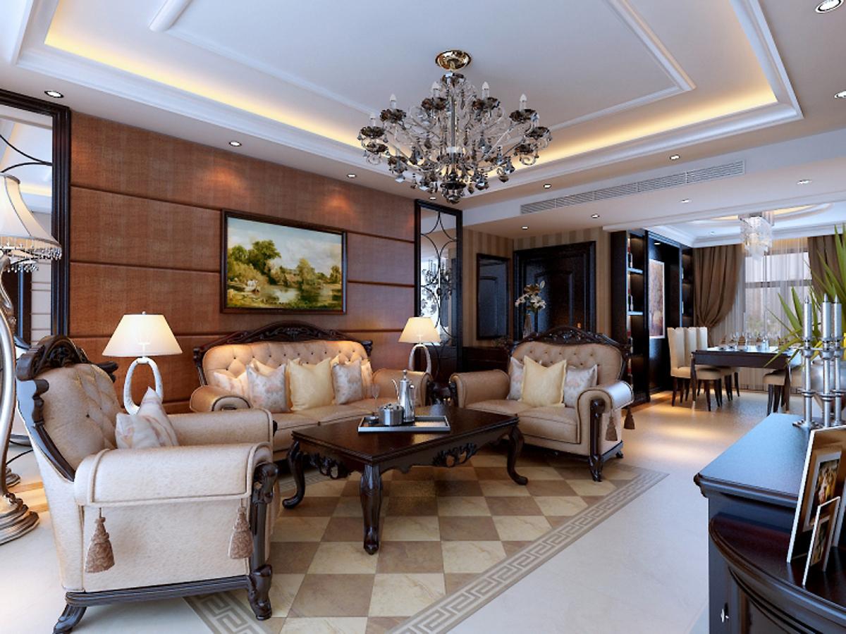 欧式 三居 白领 收纳 旧房改造 客厅图片来自合肥实创装饰李东风在欧式新古典风格装修的分享