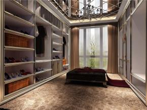 鲁能7号院 混搭 中式 复式楼 小资 衣帽间图片来自沙漠雪雨在鲁能7号院打造复式混搭中国风的分享