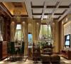 这款客厅是中欧混搭风格装修,它使用了浅色的装修,空间整体装修没有欧式装修那样厚重的奢华感,深浅蓝色的灵活运用,让空间看起来更加清新。
