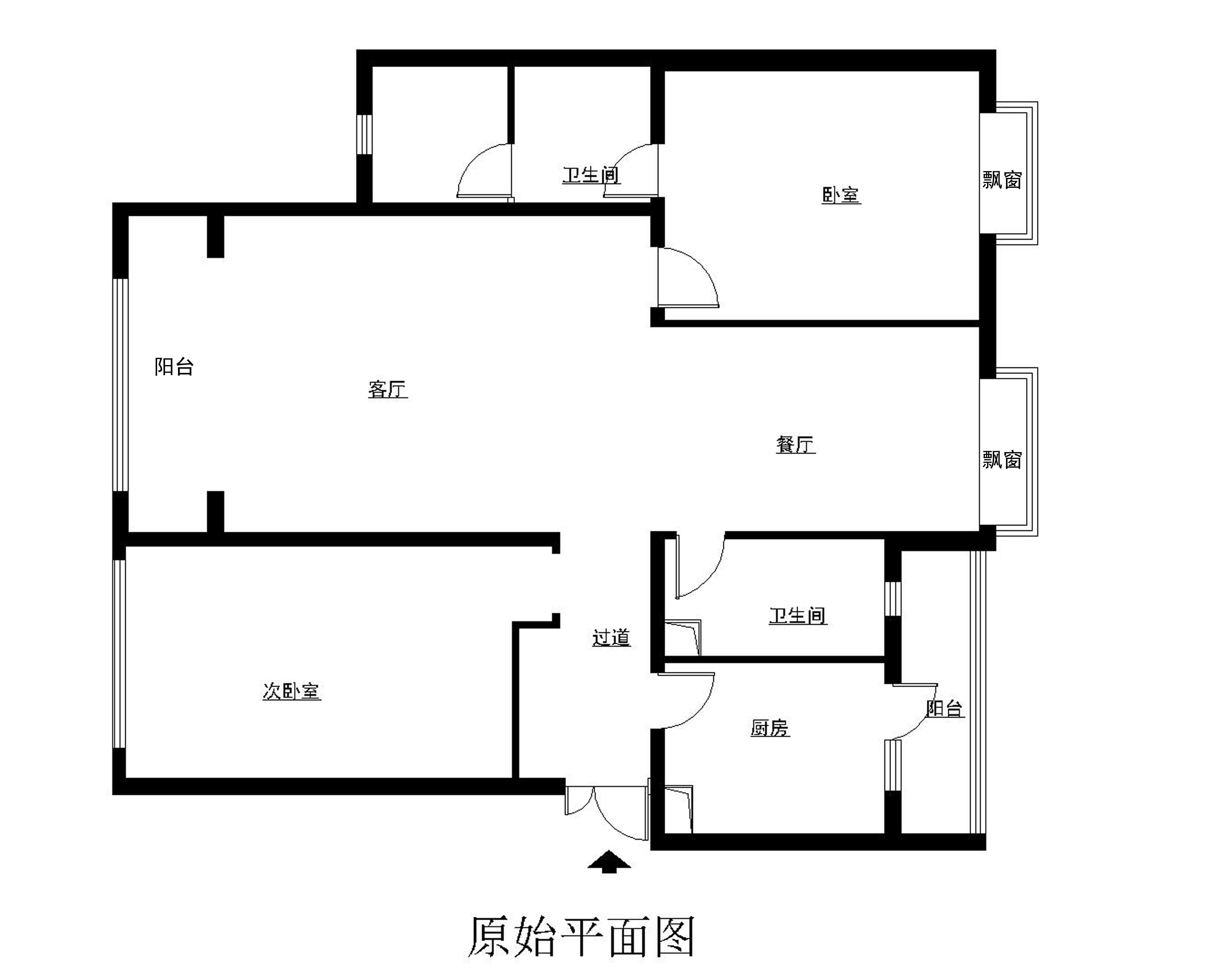 欧式 三居 白领 收纳 旧房改造 户型图图片来自合肥实创装饰李东风在欧式新古典风格装修的分享