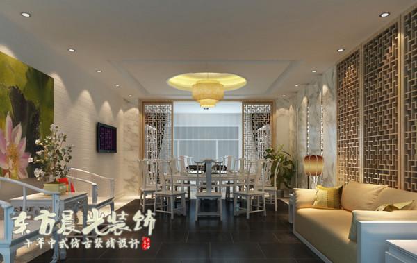 中式会所装修设计美好而大气,一点一滴中传承着中式建筑文化,有意者欢迎来电咨询东方晨光装饰!