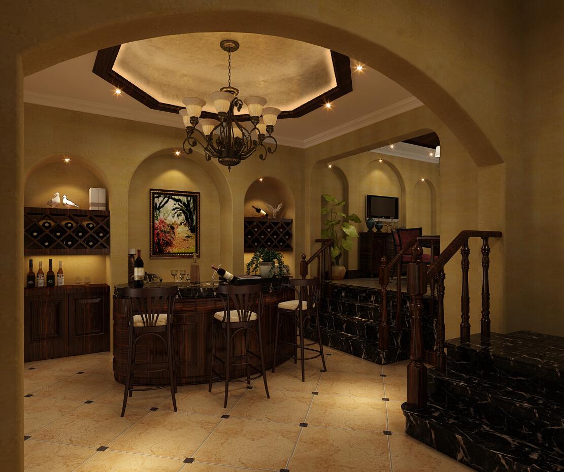 印象欧洲 别墅装修 别墅设计 美式风格 腾龙设计 曹晖作品 餐厅图片来自设计师曹晖在印象欧洲别墅装修美式风格设计的分享