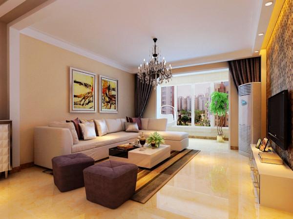 石家庄小区【天水丽城】140平米-客厅沙发墙装修效果图
