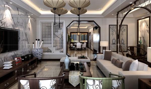 紫檀、绿檀圈椅提升空间整体格调,反映出屋主的文化修养