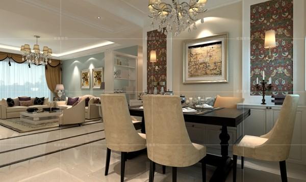 矮柜与餐椅的结合,增添了室内的储物空间