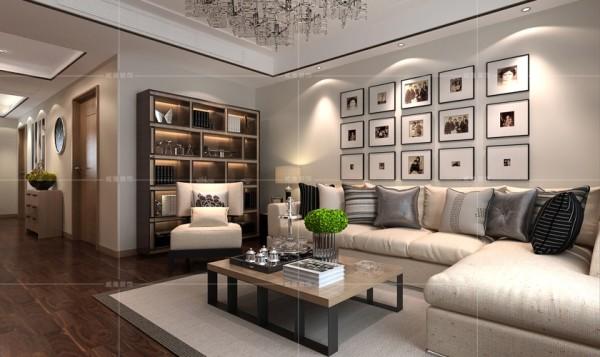 书柜的设置弥补了背景墙的空白,增添一丝文化底蕴