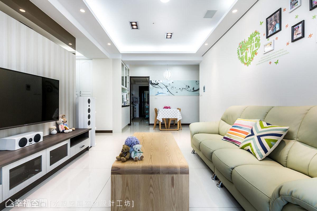三居 简约 现代 新古典 温馨 客厅图片来自幸福空间在微古典100平现代生活的温馨主张的分享