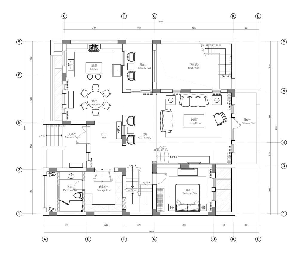 南郊中华园 别墅装修 别墅设计 新中式风格 腾龙设计 户型图图片来自设计师曹晖在南郊中华园别墅装修新中式设计的分享