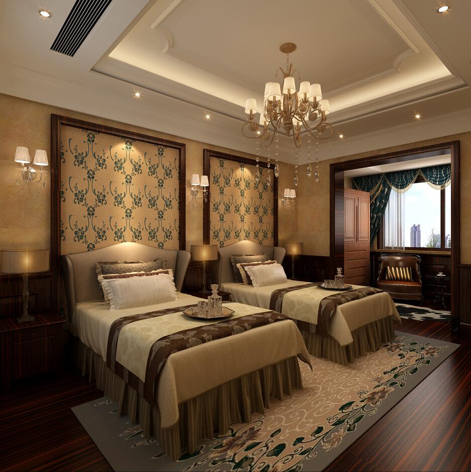 印象欧洲 别墅装修 别墅设计 美式风格 腾龙设计 曹晖作品 卧室图片来自设计师曹晖在印象欧洲别墅装修美式风格设计的分享