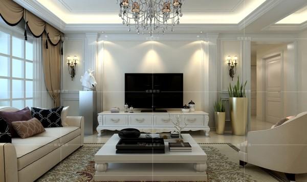 白色家具搭配石膏浮雕,产生高雅而华丽的视觉感受