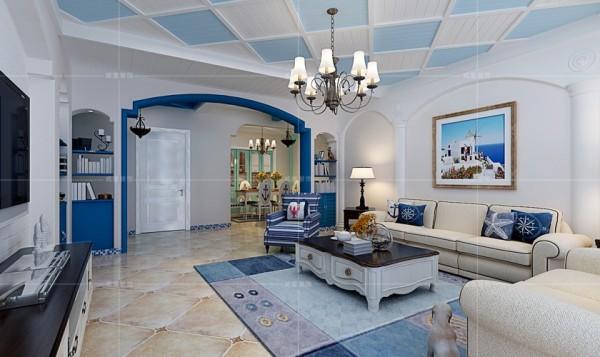 门庭廊柱浮雕弥补了背景墙的空白,同时增添了空间的立体感