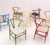 Y型靠背铁艺彩色餐椅、吧椅,采用软垫,人性化设计,久坐舒适,缓解疲倦感