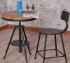 美式复古餐桌椅,采用铁艺实木,适用于家居、休闲吧!