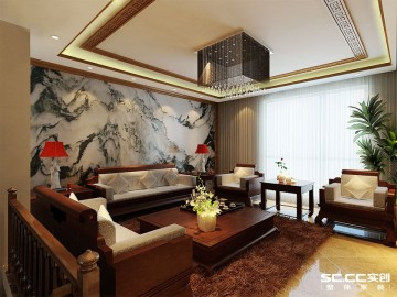 中建观湖国际220平中式情调设计