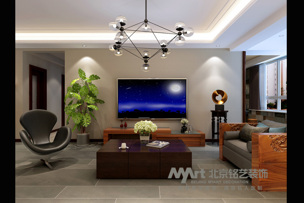 客厅图片来自北京铭艺-Myart-大飞在盛邦花园-139-东南亚的分享