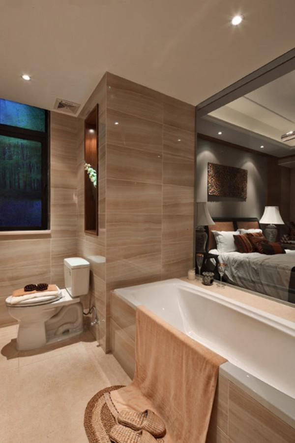 细腻的卫生间设计给人一种温馨典雅的感觉