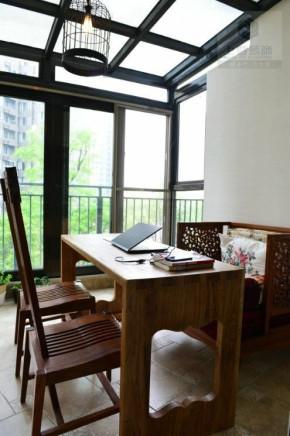 简约 中式 万科魅力城 新中式 上尊装饰 白领 70后 阳台图片来自成都V2装饰在万科魅力之城的分享