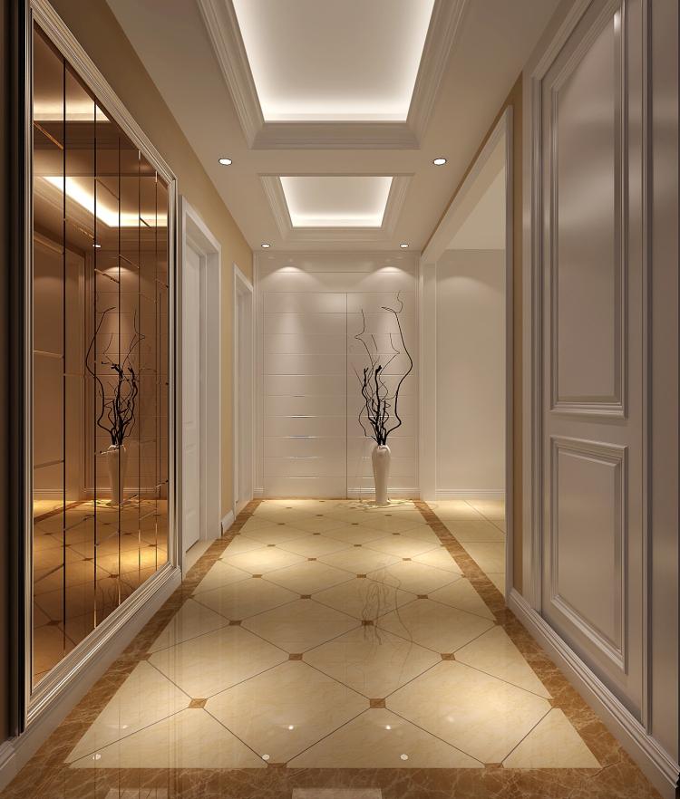 三居 欧式 简约 公寓 玄关图片来自高度国际装饰宋增会在长滩一号120平米简欧的分享