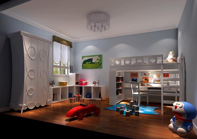 三居 欧式 简约 公寓 儿童房图片来自高度国际装饰宋增会在长滩一号120平米简欧的分享